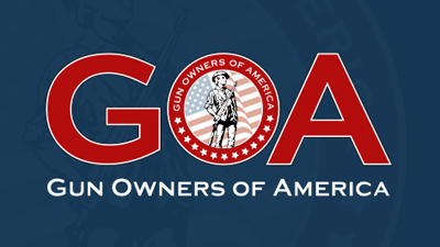Gun Owners of America GOA red white and blue logo