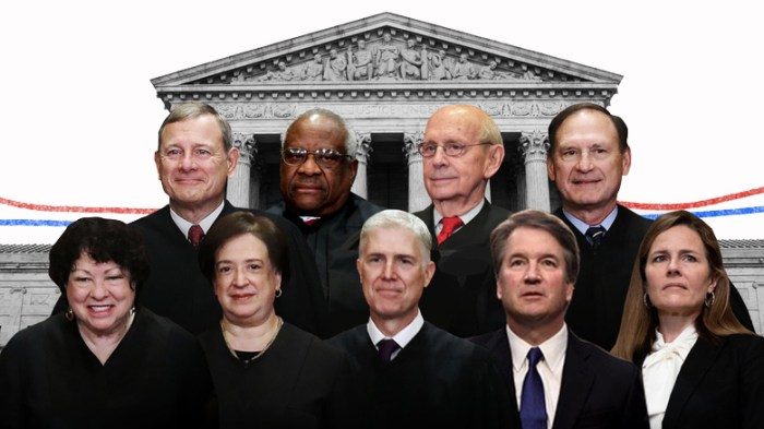2020 supreme court justices in front of the U.S. supreme court building to hear New York State Rifle & Pistol Association, Inc. v. Bruen