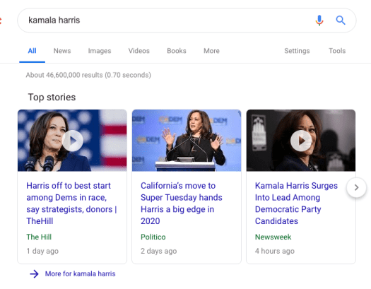 Kamal Harris Search Results