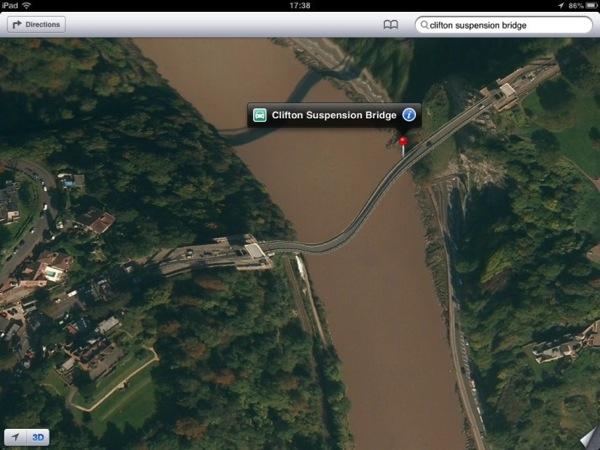 Apples wobbly Clifon Bridge