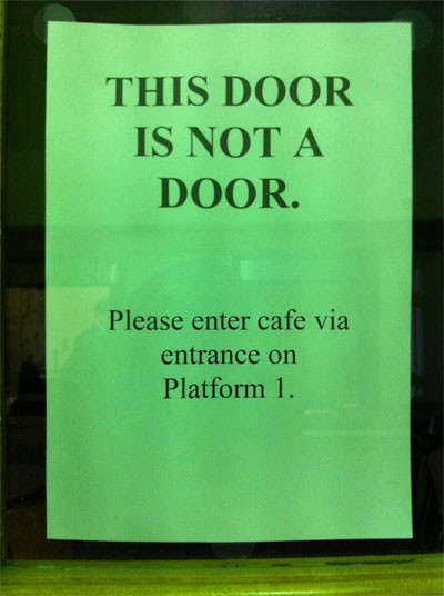 When is a door not a door when I say so