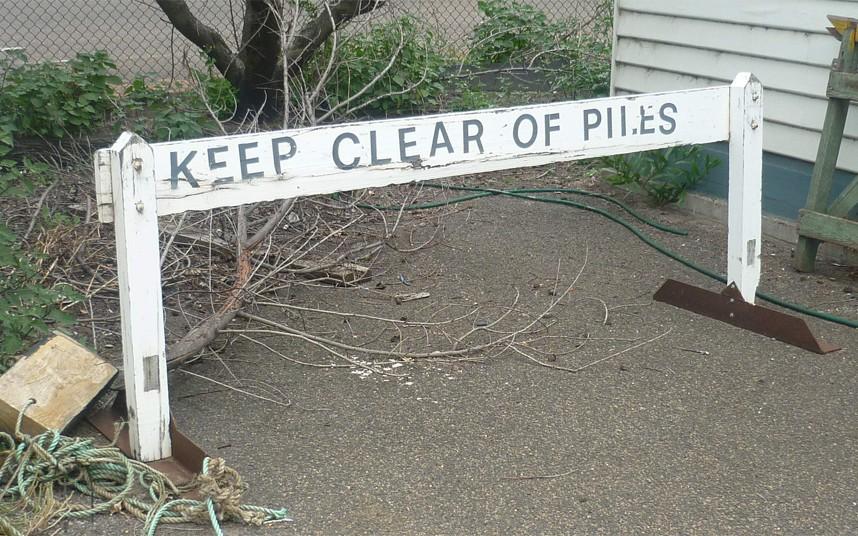 A piles epidemic in Australia averted