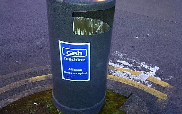 A Welsh cash machine