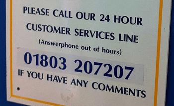 The English are so dedicate customer service