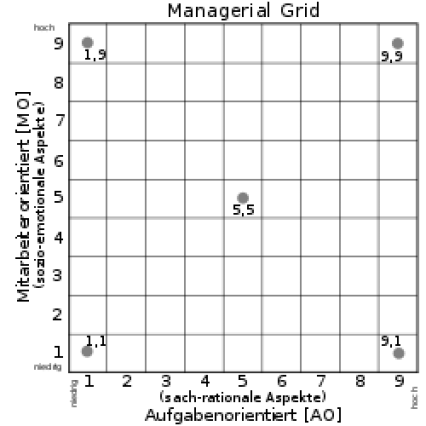 Managerial Grid, Blake Mouton Modell