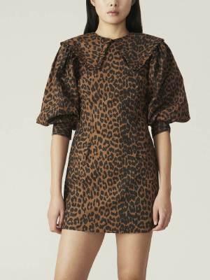 Rent Ganni Leopard Dress