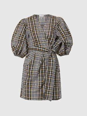 Rent New Season Ganni Check Dress