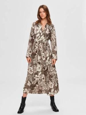 SELECTED FEMME FLORAL MAXI DRESS