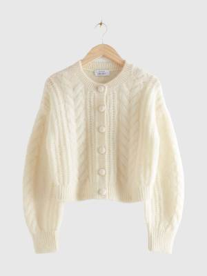 Bonfire Night & OTHER STORIES BUTTON UP KNIT SWEATER