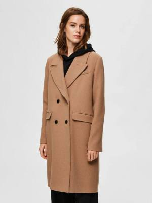 SELECTED FEMME TAILORED DOUBLE BREASTED COAT