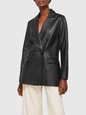 Sustainable Wardrobe Whistles Leather Blazer