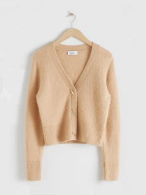 & OTHER STORIES BUTTON KNIT CARDIGAN