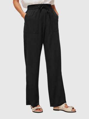 WHISTLES WASHED WIDE LEG TROUSER
