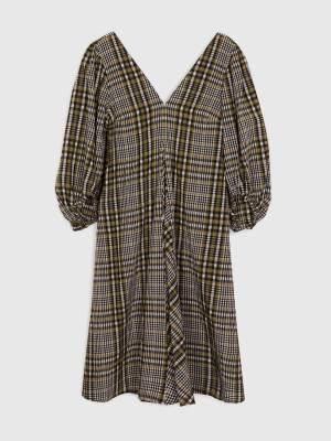 Rent Valentine's GANNI SEEKSUCKER SLEEVED DRESS
