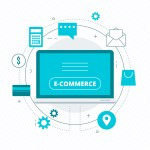 How does the e-commerce website builder India allow you to implement designs?