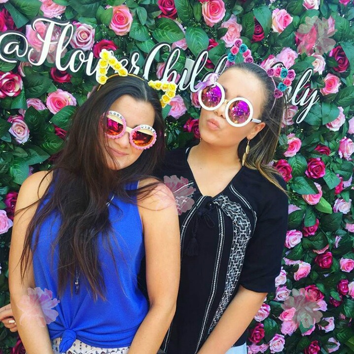 coachella flower wall hire rental