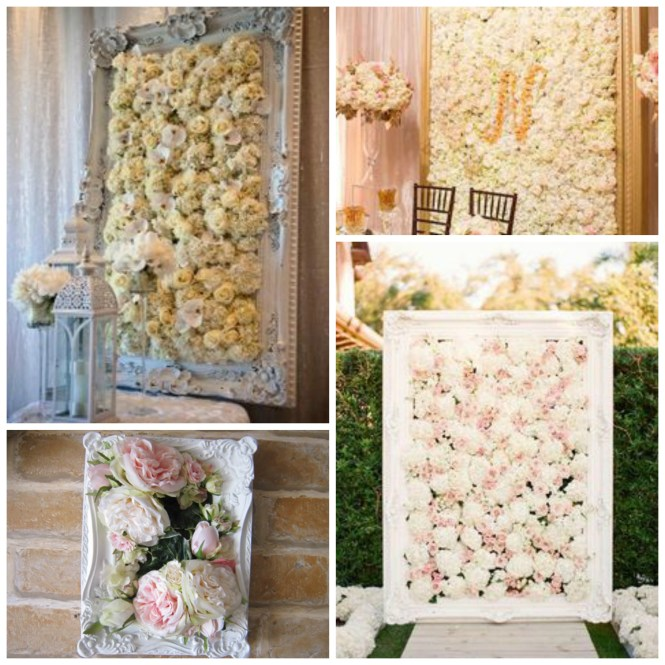 flower wall in a frame
