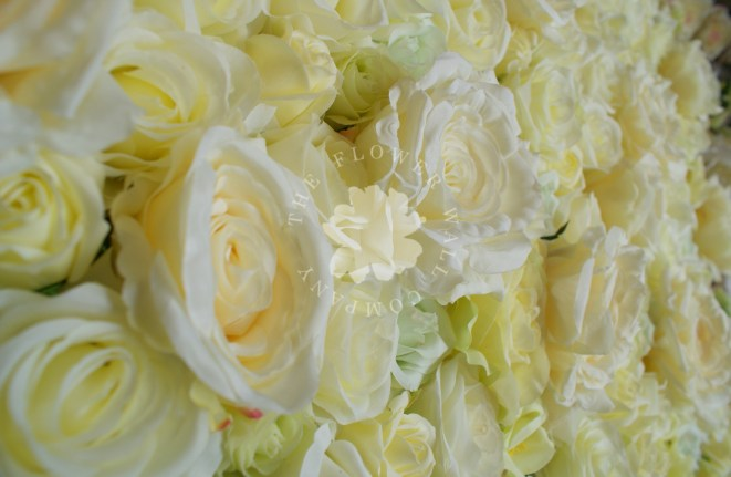 lemon yellow flower wall wedding