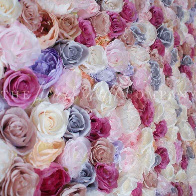 pink flower wall, cheap flower wall, floral backdrop, where to buy a flower wall