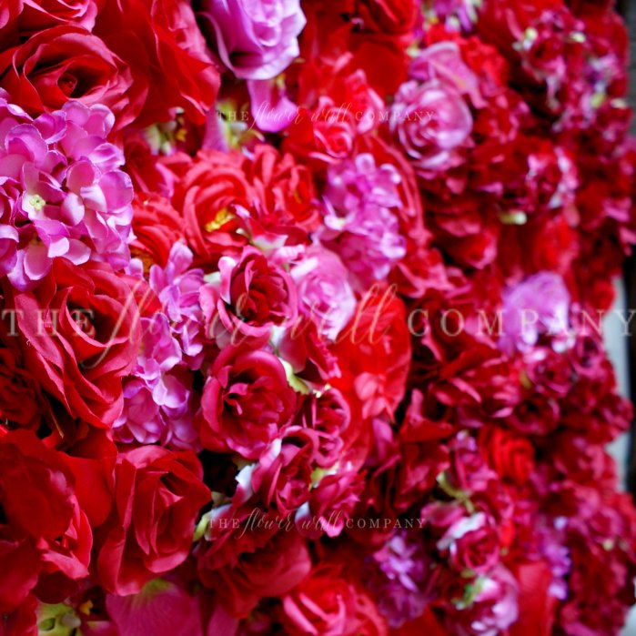 red flower wall karen tran luxury flower wall