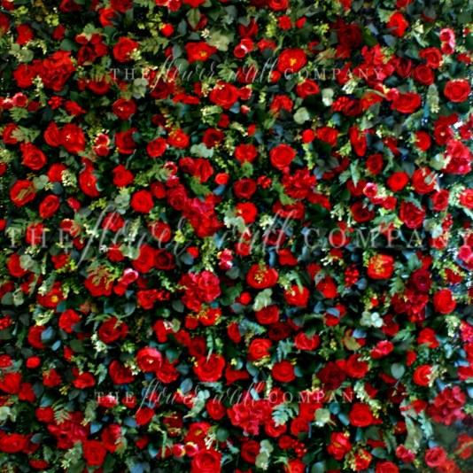red flower wall