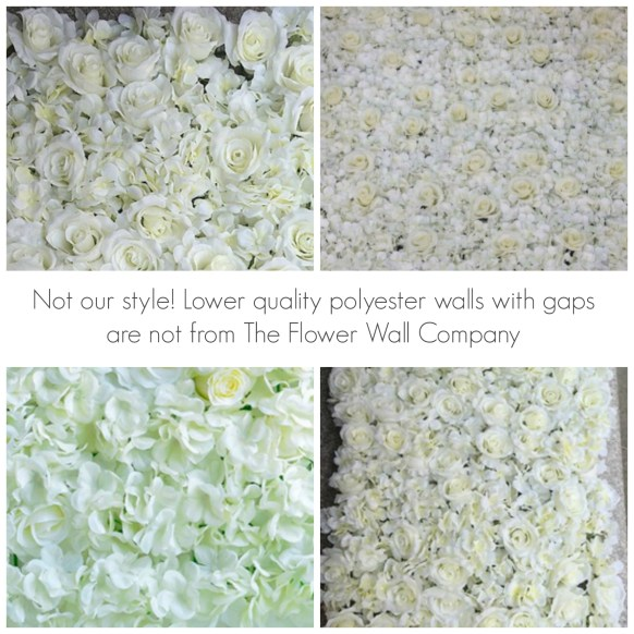 cheap nasty flower wall