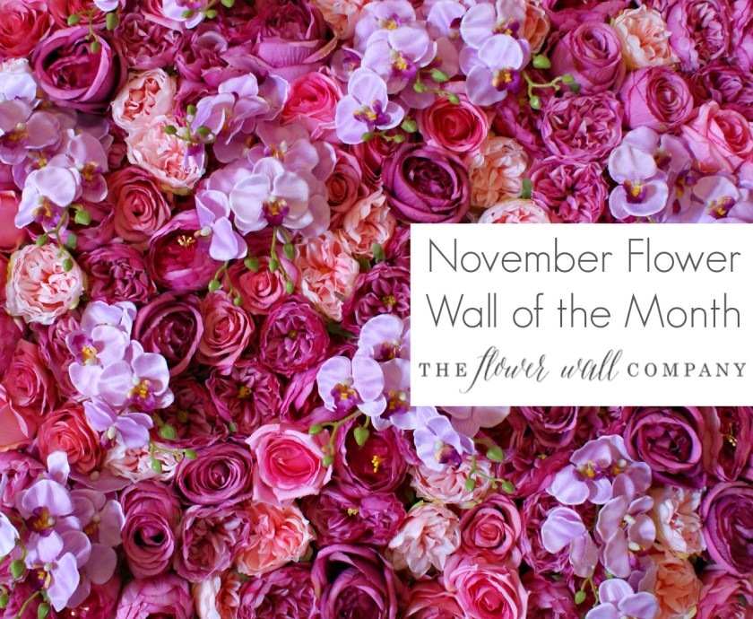 pink flower wall floral backdrop