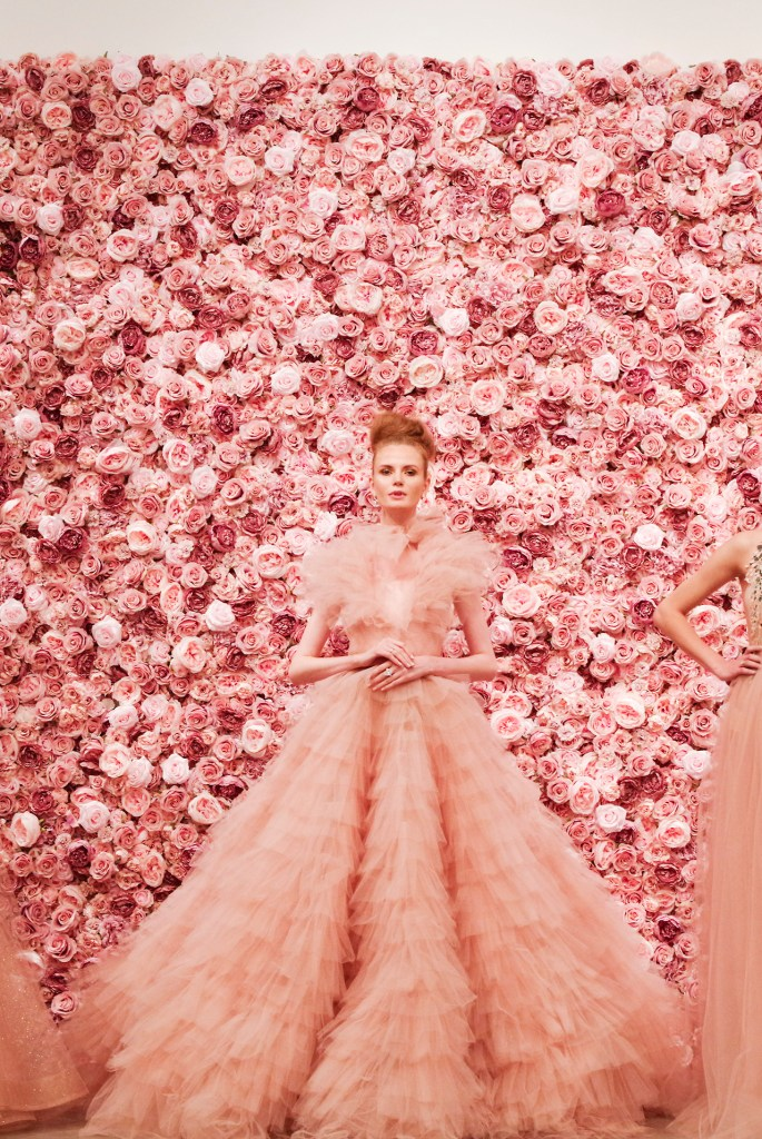 The Flower Wall Company at New York Fashion Week