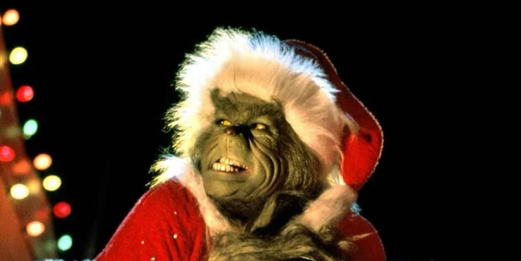 Image of Jim Carrey as the Grinch from the movie The Grinch