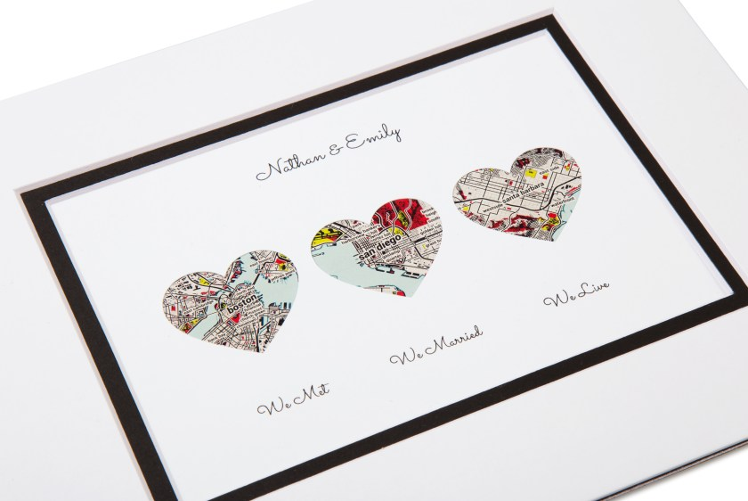 Nathan & Emily's personalized love map story art