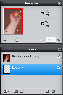 photo editing layers pane