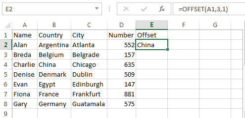 offset formula example