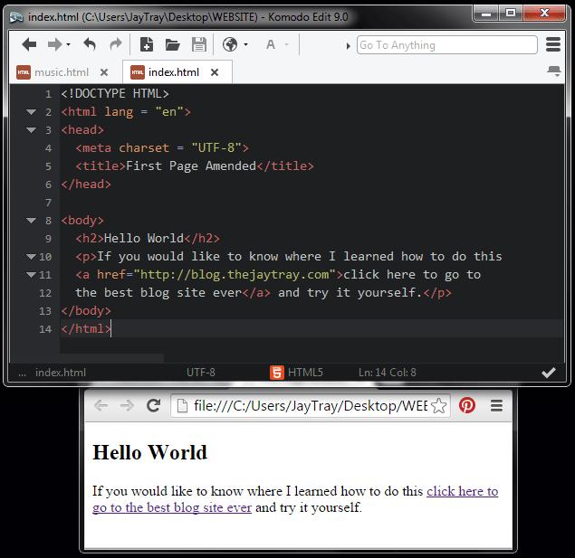 html link code to an external web address