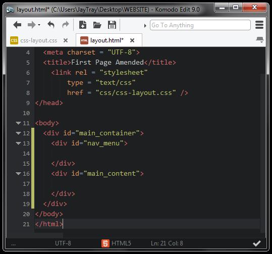 HTML5 CSS LAYOUT - The JayTray Blog