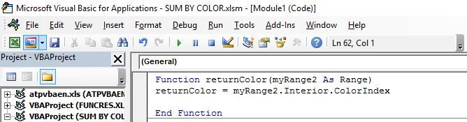 image of function to return cell color index