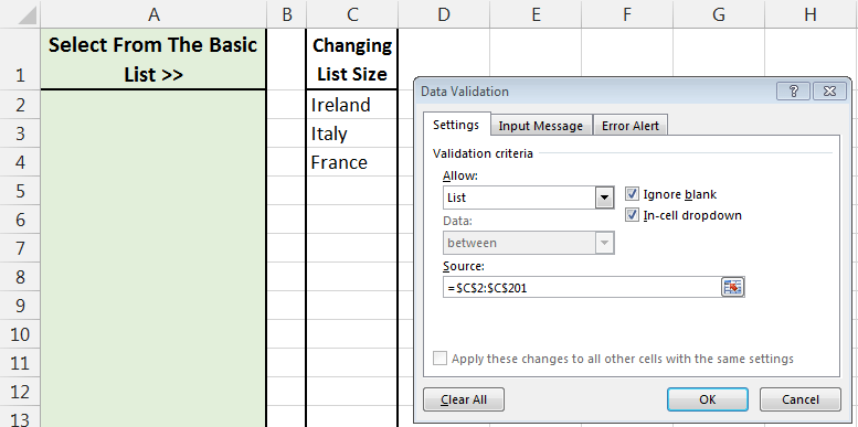 Image showing data validation rule with a big range