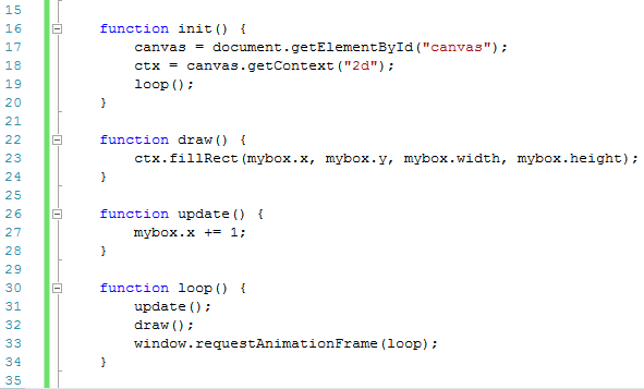 image of new functions in canvas code for canvas basics moving a shape post