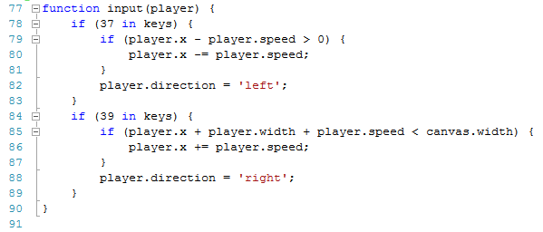 image of changes to keys input code