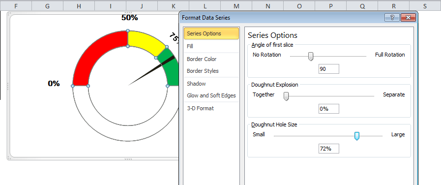 image showing how to change doughnut hole size