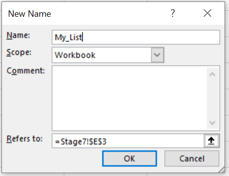 The New Named Range message box