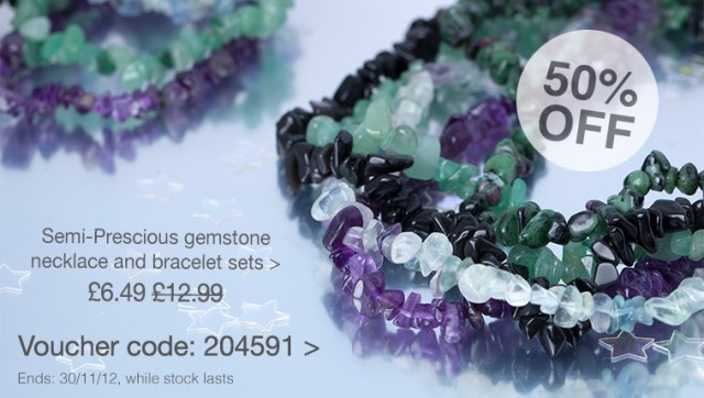 Set of 2 - amethyst, green aventurine, fluorite, black obsedian and ruby zoisite necklace and bracelets