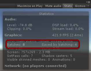 batching stats window
