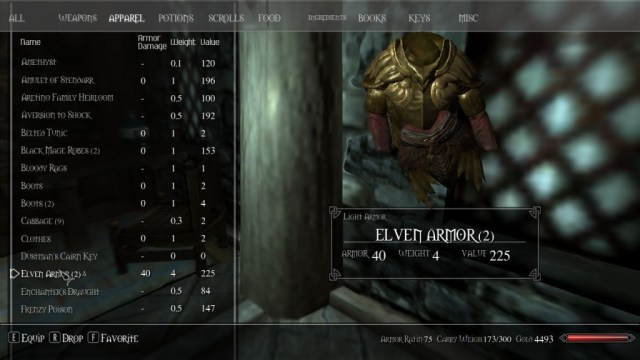 In Skyrim you can see inventory items as 3D objects. These are rendered correctly even if background object appears closer to the camera.