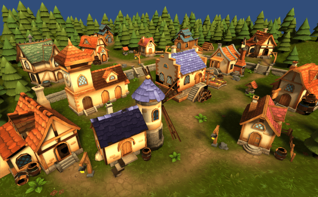 Lowpoly Township Set on the Unity Asset Store