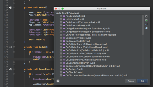 JetBrains Rider: an Alternative IDE to Visual Studio for Unity