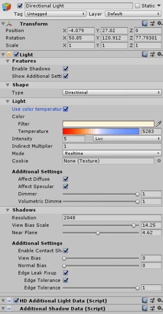 High Definition Render Pipeline Use Color Temperature