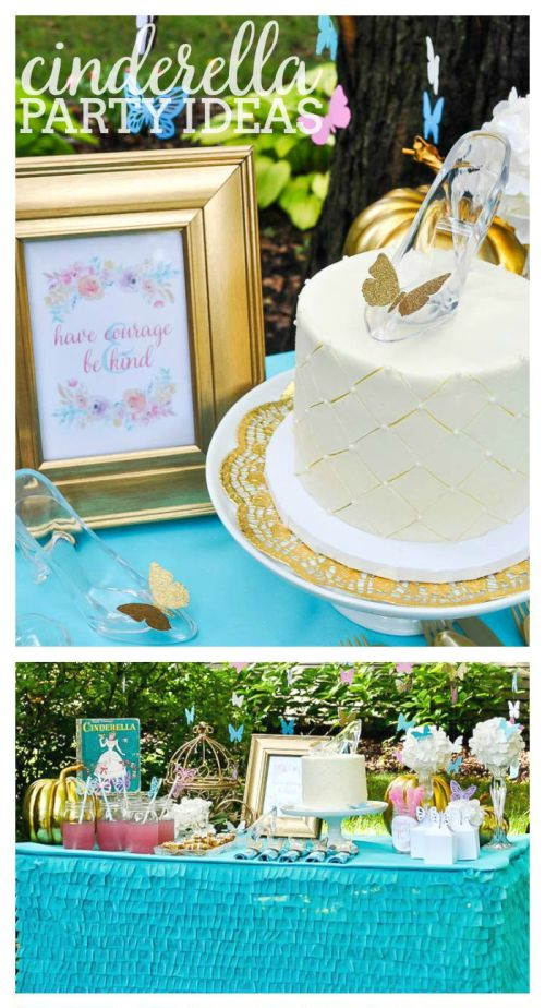Gorgeous Cinderella Party Ideas inspired by the new Cinderella movie! | The Love Nerds #DisneySide