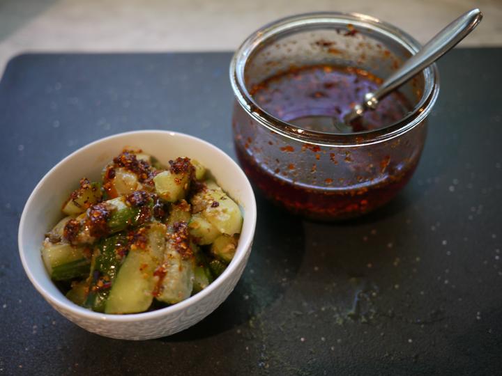 Sichuan cucumbers