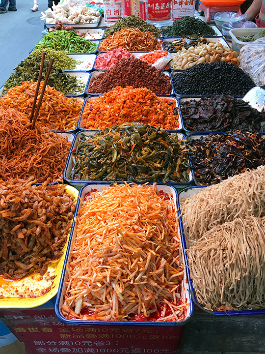 Sichuan market pickles