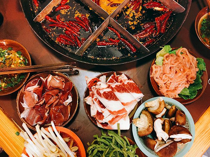 Chengdu hot pot (mala huo guo)
